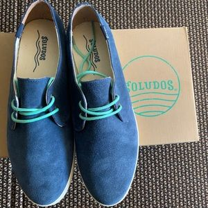 Soludos Navy Suede Lace-up Sandshoe